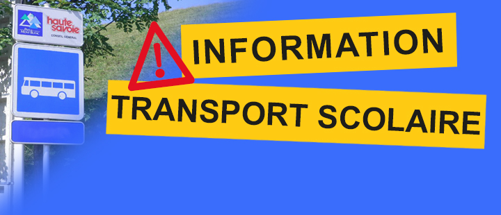 Informations transport scolaire !
