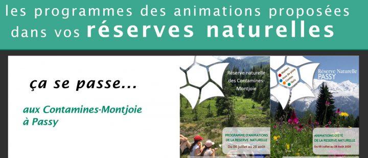 Votre été dans les réserves naturelles de Passy et des Contamines-Montjoie