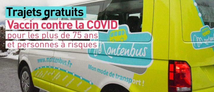 MONTENBUS : trajets gratuits pour vacciner les + 75 ans